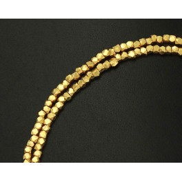 24k Gold  Vermeil Style  130  Faceted Spacer Beads 1.5 mm. 8 inches