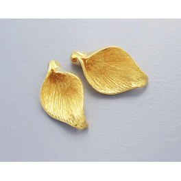 24k Gold Vermeil Style 2 Calla Lilly Bead Caps 10.5x18mm.