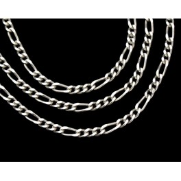925 Sterling Silver Figaro Chain 2mm.18 inches