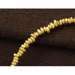 Karen hill tribe 24k Gold  Vermeil Style 70 Irregular Beads 3 - 5 mm.
