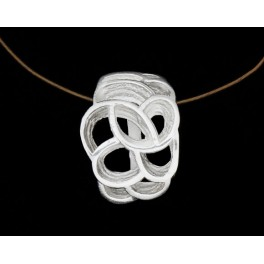 925 Sterling Silver Cutout Pendant 11x14mm.