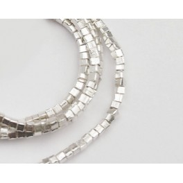 Karen Hill Tribe Silver 220 Cube Beads 1.5mm. 13 inches