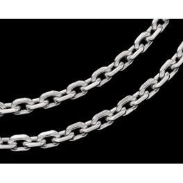 925 Sterling Silver Link Chain 3x4 mm. 16 inches