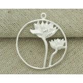 925 Sterling Silver Lotus Pendant 26mm.