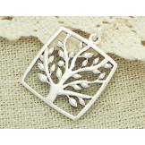 1 of 925 Sterling Silver Tree of Life Pendant 20mm.