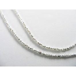 Karen Hill Tribe Silver 250 Little Facet Beads 1mm.12.5 inches